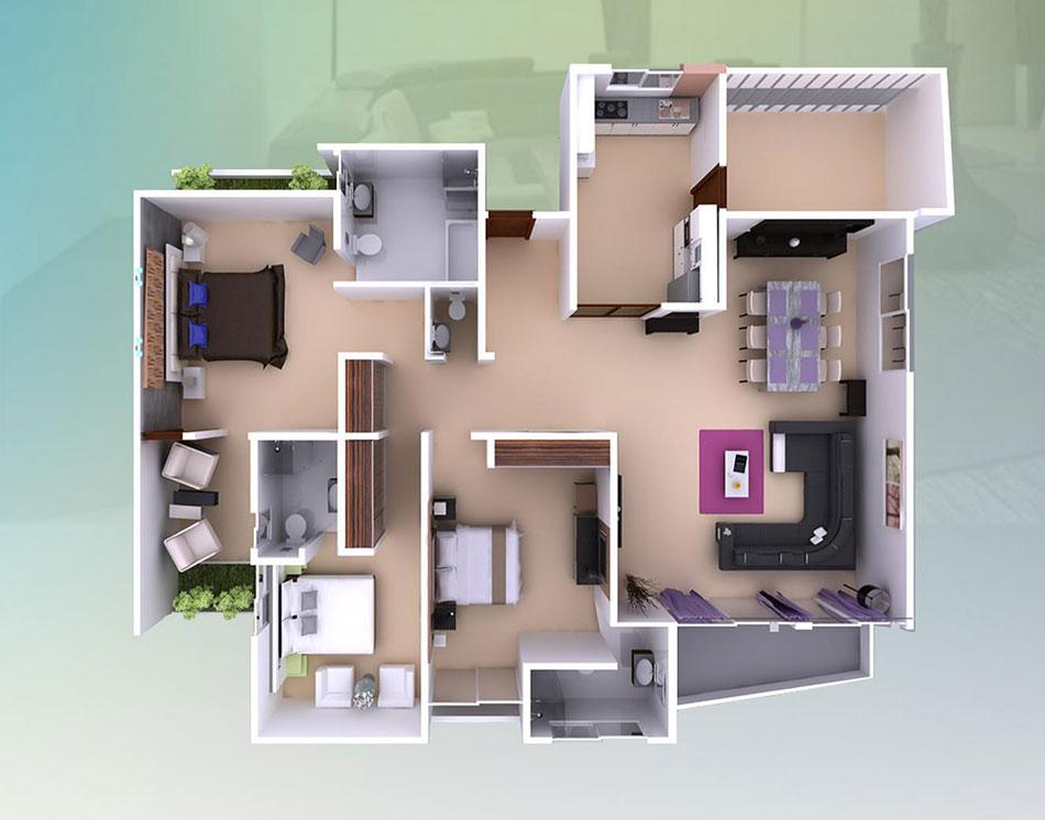 plan appartement 47 m2