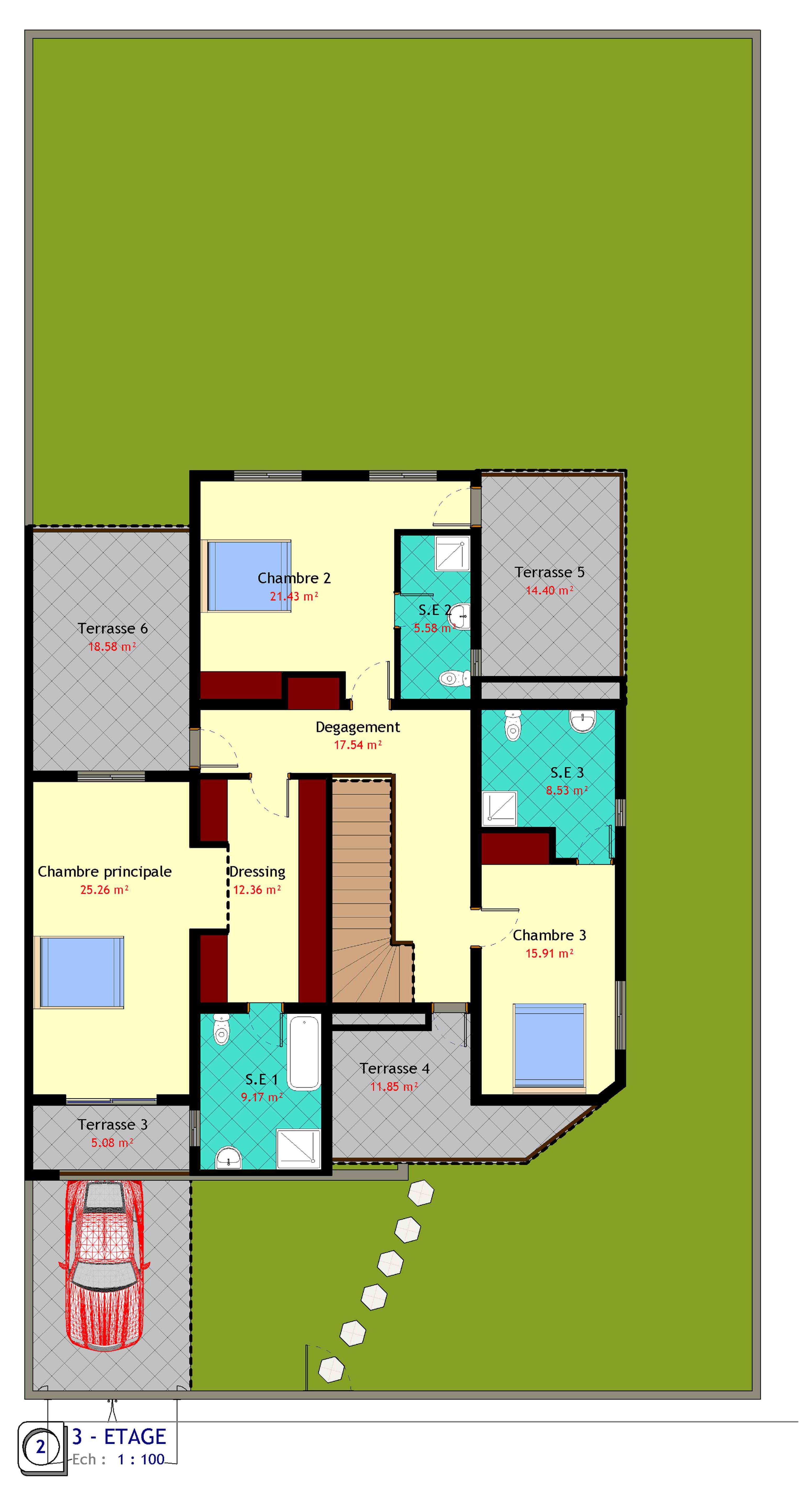 Les villas duplex les r sidences terre d 39 ivoire for Les plan de villa